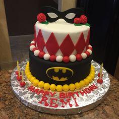 Batman and Harley Quinn birthday cake!