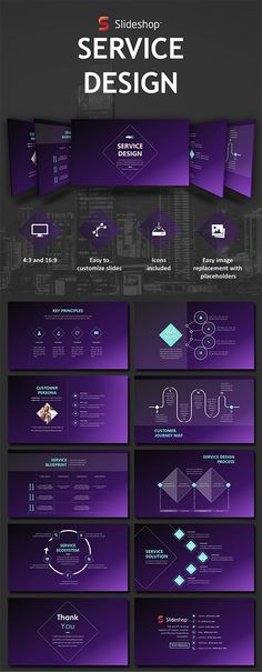Buy Service Design by Slideshop on GraphicRiver. A highly editable presentation template. Presentation format in .pptx Users will received two presentation file sizes. Presentation Format, Interior Design Presentation, Presentation Templates, Creative Powerpoint Presentations, Business Powerpoint Templates, Slide Design, Ppt Design, Powerpoint Tutorial, Customer Journey Mapping
