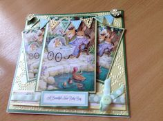 New baby card made from Joanna Sheen, Hollypond Hill CD