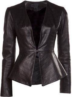 Flared Jacket adds softness and curves - hope i can find one cheaper somewhere - this one costs $1500!