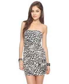 Zebra Stripes Dress | FOREVER 21 - 2000020007
