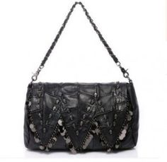 e5b9afbc54 Genuine Leather Sheepskin Womens Messenger Bags Punk Style Skull Shoulder  Bags Female Vintage Small Bags