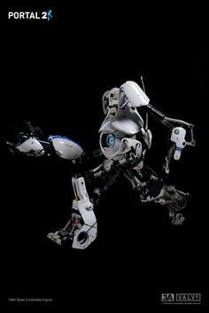 3A x VALVe Portal 2 Atlas Fully articulated and detailed Featuring Light-Up Optical Sensor and Light-Up Handheld portal device planned pre-order time: May 25th 9:00AM Hong Kong time at www.bambalandstore.com  price: 190USD with shipping included in the price height: approximately 10.8 inches