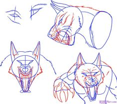 how to draw a werewolf face, head, eyes step 4 Comic Art, Drawing People, Werewolf Drawing, Art Drawings, Guided Drawing, Drawings, Lycanthrope, Art, Step By Step Drawing