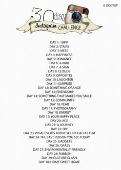 Instagram challenge ... might do this one starting today!