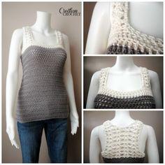 FREE crochet pattern The Seaside Tank #cre8tioncrochet