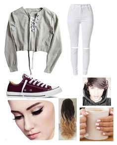 """Untitled #219"" by batgirls2001 ❤ liked on Polyvore featuring Converse"
