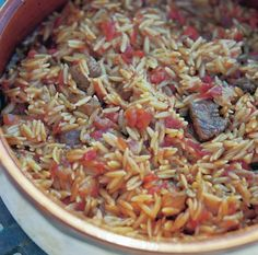 Eatlove – Youvetsi (Lamb And Tomato With Rice-Shaped Noodles) by Tessa Kiros