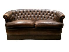 Leather settee for living room