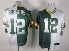 d59168f6a6e Nike Green Bay Packers Aaron Rodgers Green White Two Tone Elite Jersey