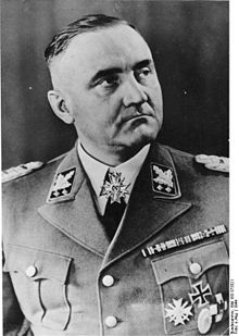 Gottlob Berger (16 July 1896 – 5 January 1975) was a German Nazi who held the rank of Obergruppenführer during World War II and was later convicted of war crimes. In 1939, he was Reichsführer-SS Heinrich Himmler's main recruiting officer. From 1940, he was Chief of Staff for the Waffen-SS and head of SS-Hauptamt (English: SS main office).