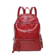 Alta qualidade bonito Real primeira camada couro de grande capacidade mulheres mochila de couro genuíno sacos de viagem saco de escola em Mochilas de Bolsas e Malas no AliExpress.com   Alibaba Group