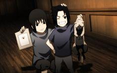 Itachi + Sasuke + cat = funny. :D