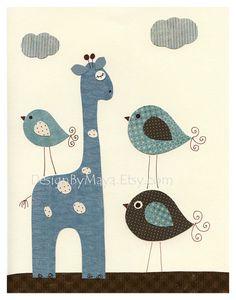 Imprimir sitio muchacho del bebé guardería bebé jirafa