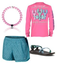 """everyday preppy"" by legitmaddywill ❤ liked on Polyvore featuring NIKE and Chaco"