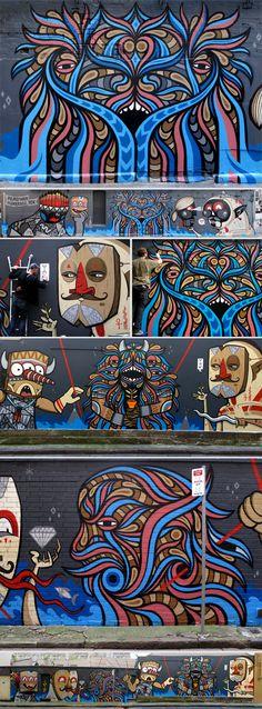 Beastman street art.