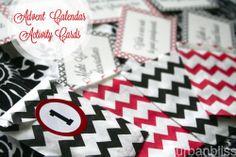 DIY Advent Calendar Printable Activity Cards