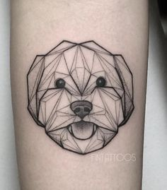 This is my favorite example because of the realistic eyes, nose and mouth and the simple shapes that make up the rest of the dog.