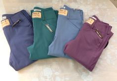 Tailored Sportsman Trophy Hunter Girls Breeches in new colours for 2014 - Cloudy Blue, Mixed Berry, Sea Blue and Ultra Violet