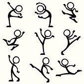 Stick Figure People dance ballet vector art illustration dance S Doodle Sketch, Doodle Drawings, Cartoon Drawings, Easy Drawings, Doodle Art, Stick Men Drawings, Stick Figure Drawing, Doodle People, Dancing Figures