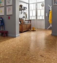 Sustainable cork flooring MOTHER EARTH NEWSSustainable cork flooring: elegant and environmentally friendly.Camada - modern variant of a classic cork flooring in parquet style Flooring Sale, Vinyl Flooring, Tile Flooring, Laminate Flooring, Cork Tiles, Floor Decor, Kitchen Flooring, Hardwood Floors, Living Spaces