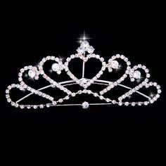 Charming silver Rhinestone Bridal Crown