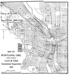 Map of Downtown Portland Oregon   Portland, Oregon Map See map details From rootsweb.ancestry.com ...