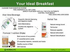 The best breakfast. Nutrition Club, Nutrition Shakes, Herbalife Nutrition, Healthy Nutrition, Healthy Tips, Herbalife Shake, Reduce Appetite, Herbal Tea, Best Breakfast