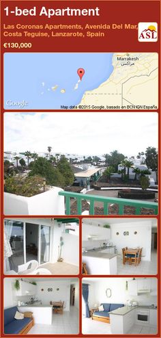 1-bed Apartment in Las Coronas Apartments, Avenida Del Mar, Costa Teguise, Lanzarote, Spain ►€130,000 #PropertyForSaleInSpain