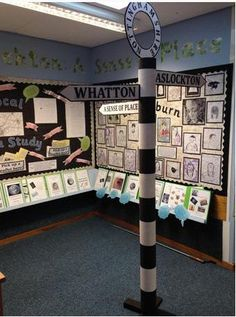 Year Geography: A sense of place local area study display, including art inspired by Ed Fairburn Teaching Displays, Class Displays, Classroom Displays, Local Studies, Art Studies, Castles Topic, Geography Classroom, Geography Lessons, Sense Of Place