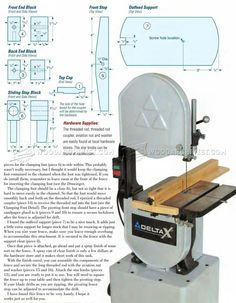 Band Saw Rip Fence Plans - Band Saw
