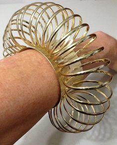 Avant Garde Circle Cuff Bracelet Massive Oversized Chunky Gold Fashion Statement Armor Tribal