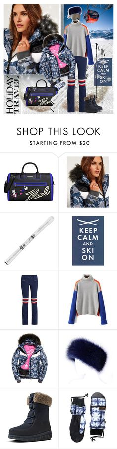 """Holiday Travel Ski"" by stylepersonal ❤ liked on Polyvore featuring Karl Lagerfeld, Superdry, Perfect Moment, FitFlop, Celtek, 2017 and skifashion"