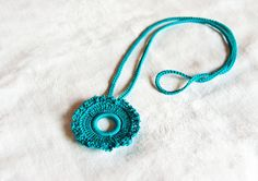 Crochet Necklace by BobbiLewin on Etsy, $27.00