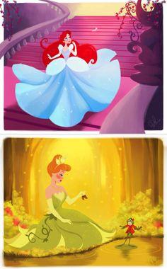 See How This Artist Imagines Disney Princesses as OTHER Disney Princesses via Brit + Co