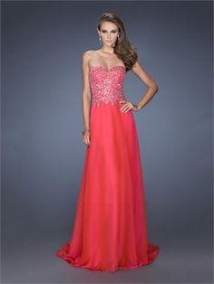 Elegant A-line Sweetheart Beads Chiffon Prom Dress PD1344 www.homecomingstore.com $216.0000