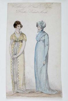 Walking & Full Dresses   Museum of London  1809
