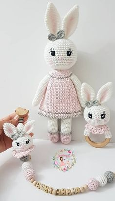 44 Awesome Crochet Amigurumi For You Kids for 2019 – Page 39 of 44 – Free Amigurumi Pattern,… Crochet Bunny Pattern, Crochet Rabbit, Crochet Animal Patterns, Crochet Patterns Amigurumi, Stuffed Animal Patterns, Crochet Baby Toys, Crochet Dolls, Crochet Crafts, Crochet Projects