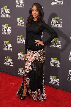 Zoe Saldana at the MTV Movie Awards 2013
