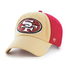 94d97d7d San Francisco 49ers Sparkle Two Tone Clean Up Red 47 Brand Womens Hat