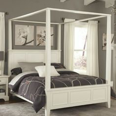 Home Styles Naples Canopy Bed   Wayfair