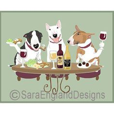 This is so cute! Bullies and wine - that's my daughters house!