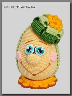 Crochet Easter Egg - PDF Pattern in English - crochettoys.com.ua