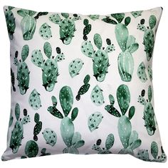 Bungalow Rose There is nothing prickly about the Cactus Garden Throw Pillow despite the name. A collage of cacti will make this pillow a fun centre piece on a bed, chair or window seat. Green Pillows, Floral Throw Pillows, Throw Pillow Sets, Outdoor Throw Pillows, Machine Wash Pillows, Green Cactus, Pillow Arrangement, American Decor, Decorative Throw Pillows