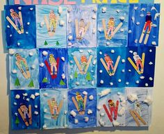 Winter Olympics art project