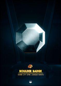 Boulder Badge - detailed, premium quality, magnet mounted prints on metal designed by talented artists. Kanto Gym Badges, Pokemon Gym Badges, Game Boy, Rainbow Badge, Popular Pokemon, Pokemon Gijinka, Video Game Anime, Pokemon Red, Character
