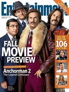 This Week's Cover: Ron Burgundy anchors EW's Fall Movie Preview!