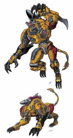 Transmetal 2 Beast Wars Cheetor by Dan-the-artguy