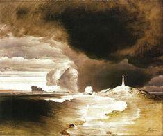 Peder Balke, Fyrtårn på den Norske Kyst (Lighthouse on the Norwegian Coast, ca. Google Art Project, Water Art, Norway Travel, Light Painting, Art Google, Art World, Painting Prints, Painting Art, Art Print