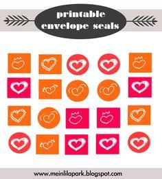 free printable cards and envelope seals - ausdruckbare Karten und Clipart Sticker - freebie | MeinLilaPark – DIY printables and downloads
